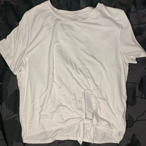 Fabletics white workout tee